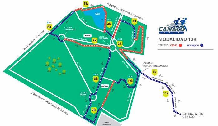 Carrera Canaco Ruta