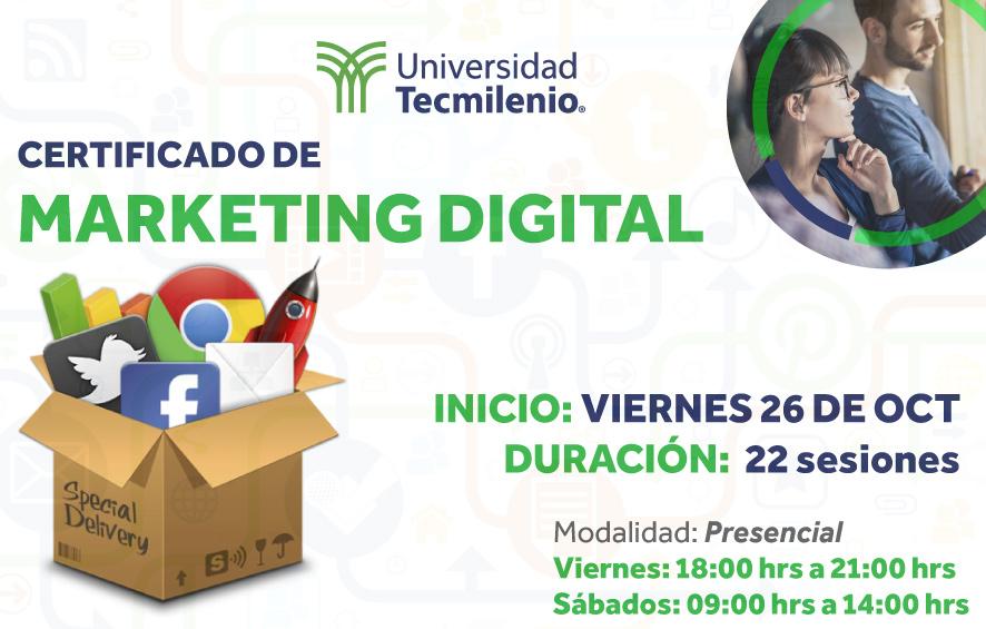 Certificado de Marketing Digital